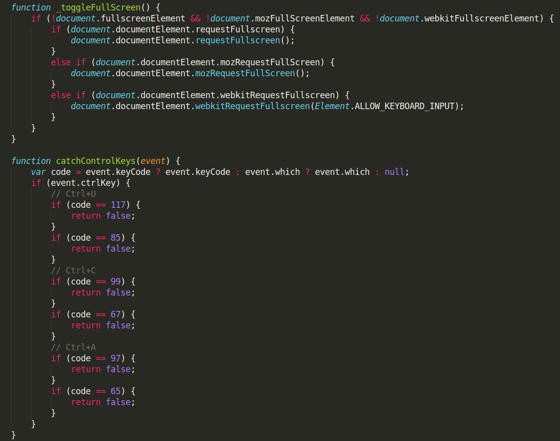 Javascript click event.