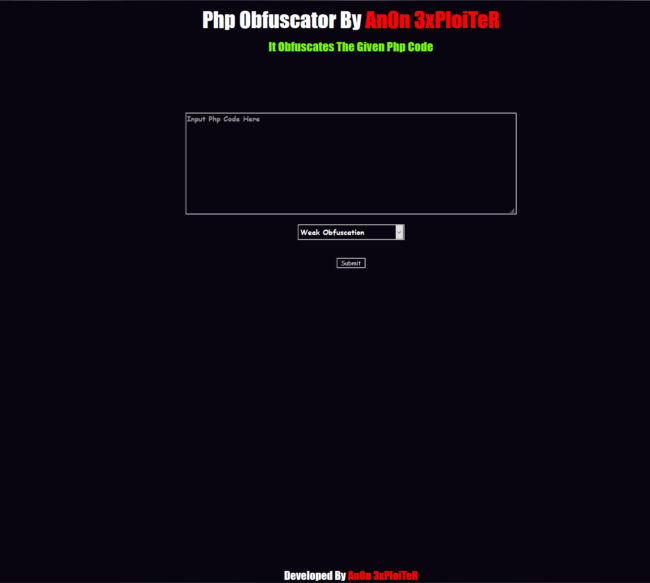 PHP Obfuscation Tool