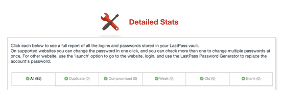 LastPass Detailed Stats