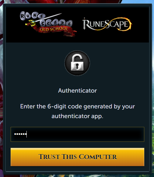 RuneScape authenticator