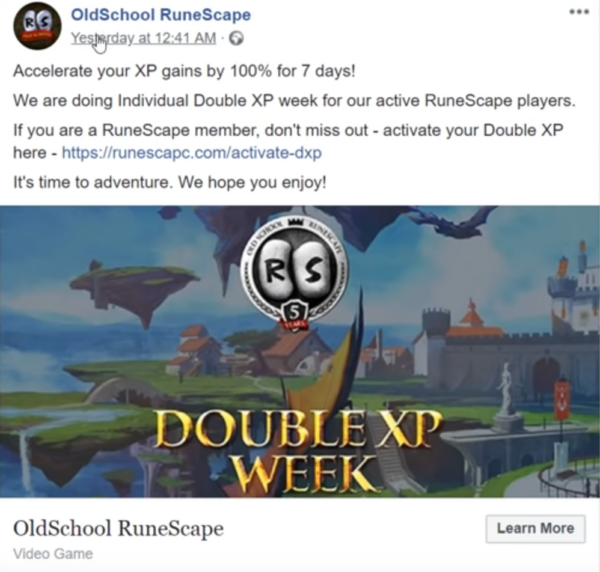 Accelerate XP gains OldSchool RuneScape Phishing
