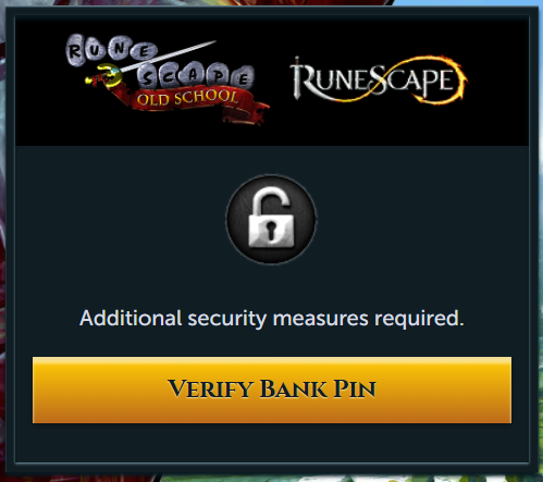 Runescape bank pin
