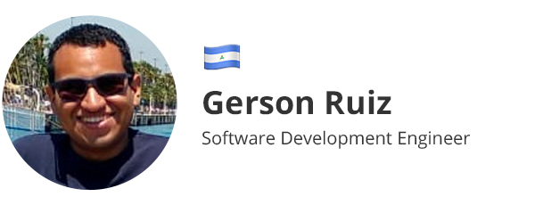 Gerson Ruiz - Software Development Engineer
