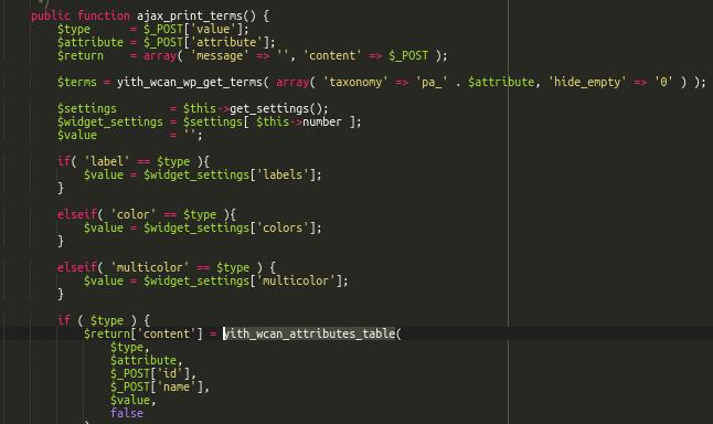 Cross-site scripting in YITH plugin