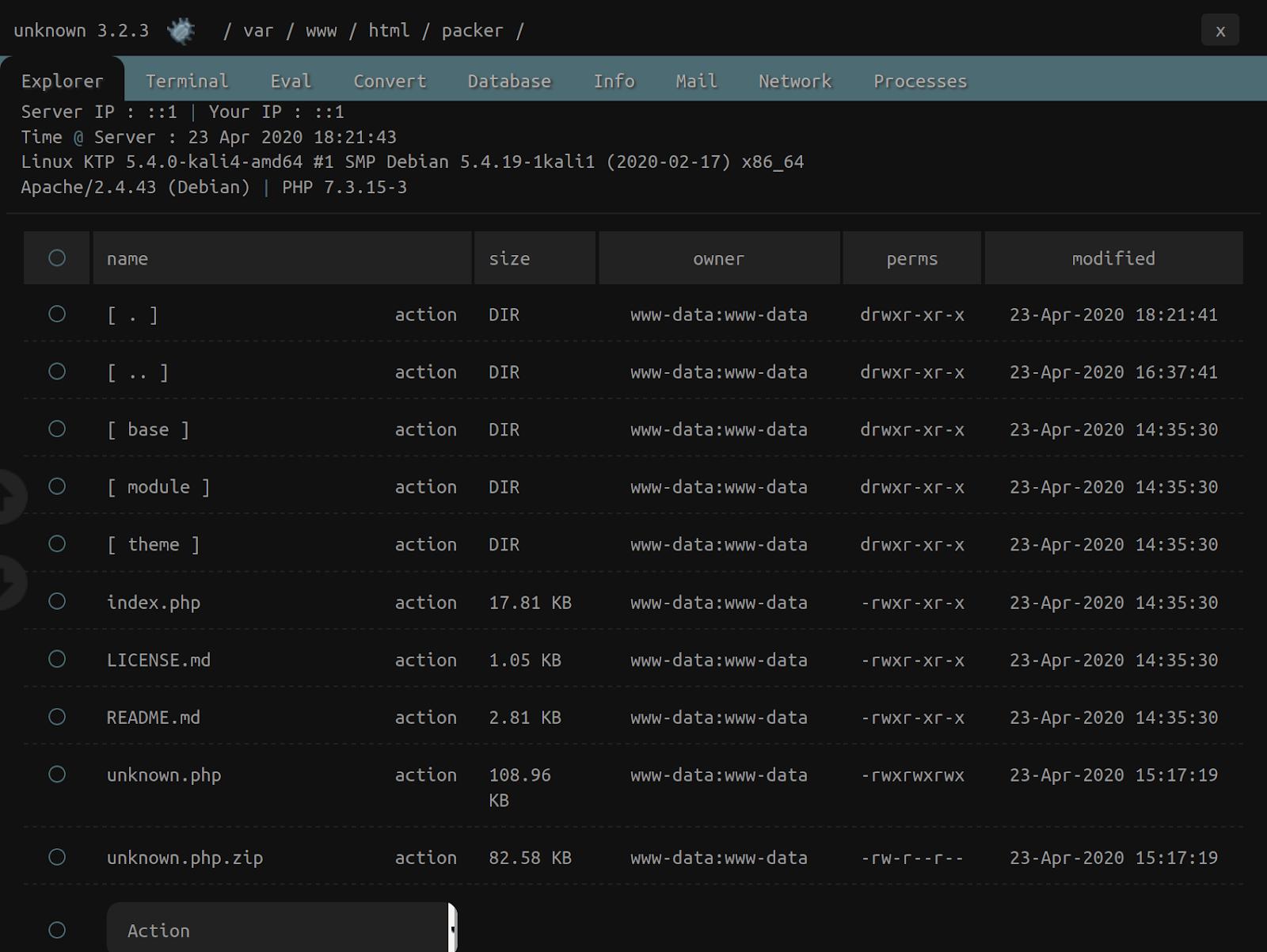 interface for b374k packer
