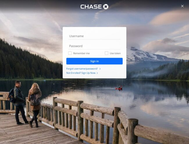 Fake chase internet banking login page