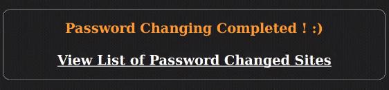 wordpress mass password changer success notification