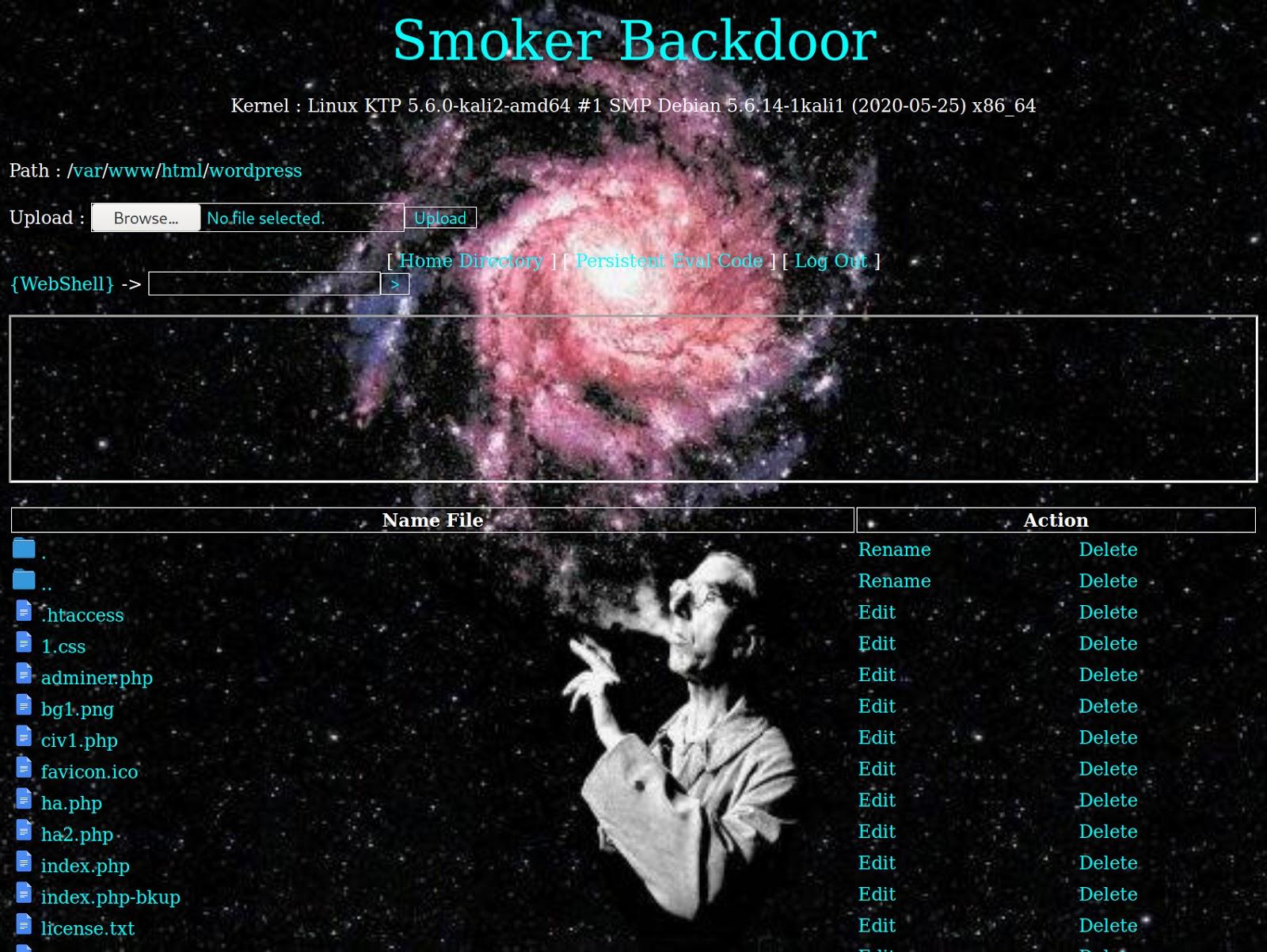 Smoker Backdoor Webshell