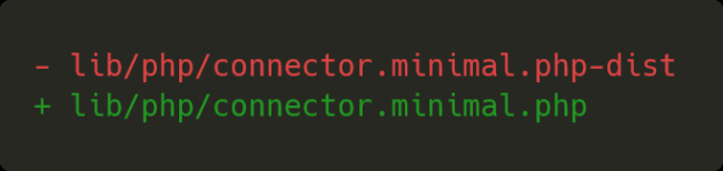 connector-minimal.php-dist was renamed to connector-minimal.php