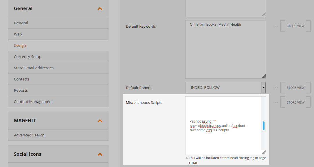 CSS concealed within Magento admin panel