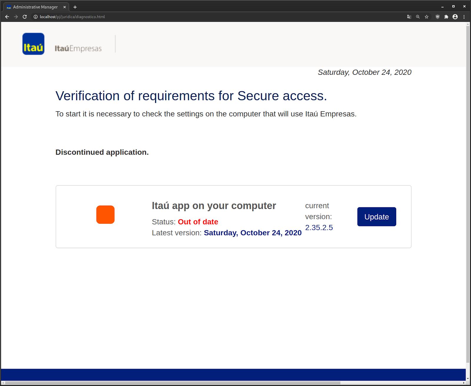 Translated Fake Verification Page
