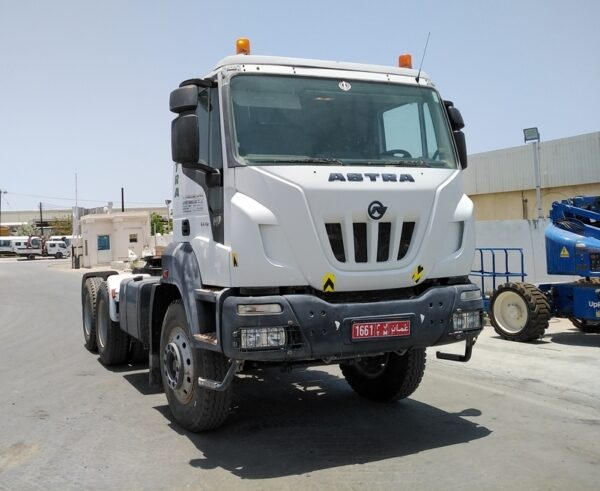 Astra utility truck used by oil field service companies