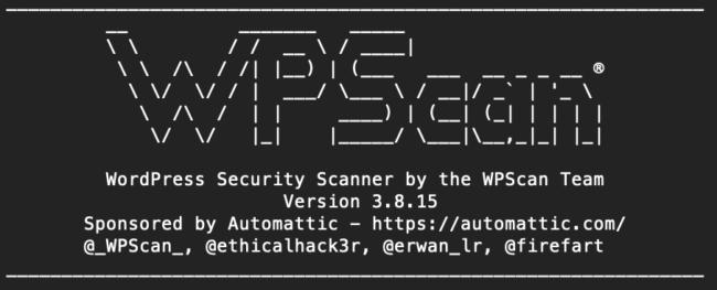 WPScan Version 3.8.15