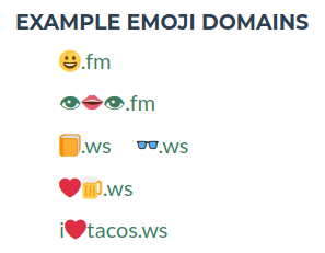 Sample picture of emoji domains