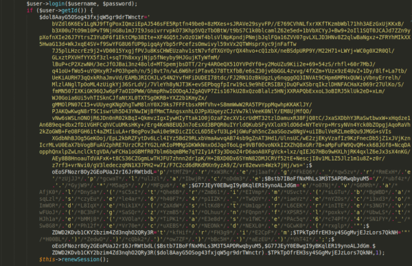 Session.php file in a compromised Magento website