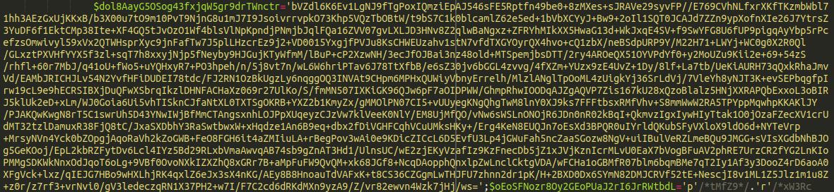 Base 64 encoded string