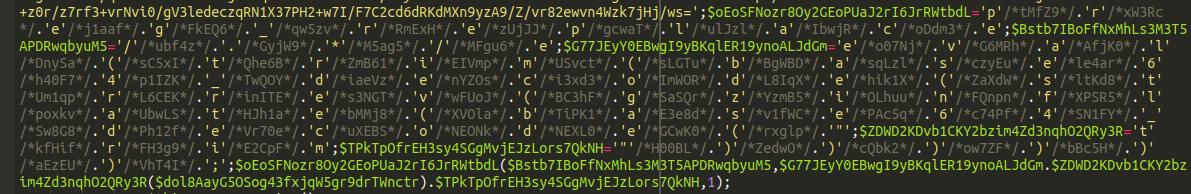 base 64 malware